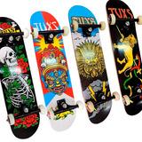 Skate Profesional Tuxs Tabla Maple 9 Truck Pintado Abec 7 Pu
