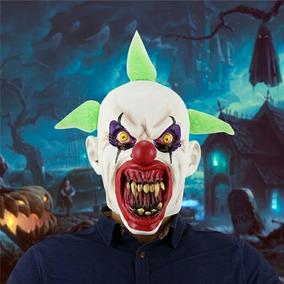 Máscara Palhaço Cabelo Verde