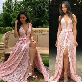 Vestido Longo Festa Madrinha Casamento Formatura Luxo Fenda