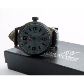 4f6e75abdb8 Relógio Masculino Pulseira De Couro Naviforce Garantia. R  130