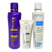 Agilise Progressiva Unika + Shampoo Open+ Neutralizante 70ml