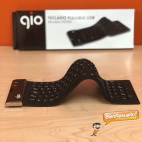 Teclado Flexible Gio Silicona Plegable Negro Usb En Español