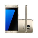Samsung S7 Edge Dourado 32gb Novo Lacrado Nota Fiscal