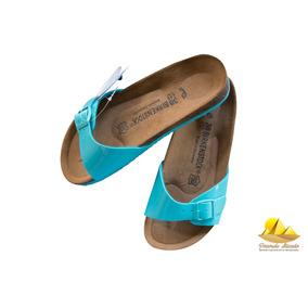 Sandália Birkenstock Madrid Azul Original Melhor Preço