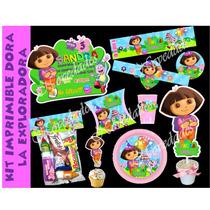 Kit Imprimible Dora La Exploradora Tarjetas Cumpleanos #3