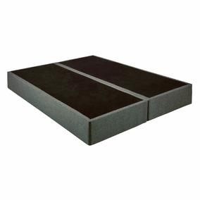 Base Para Colchão Box Queen Sommier Linho Cinza Kappesberg