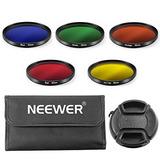 Neewer 52mm Color Filter Kit For Nikon Dslr Cameras, Kit Inc