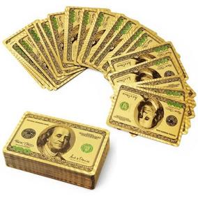 Baralho Folheado Ouro 24k Poker Canastra Blackjack Colorido