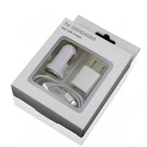 Kit De Carga Iphone 3, 4 Cable + Cargador Casa + Carg Auto