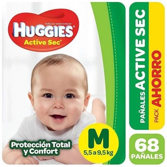 Pa?ales Huggies Active Sec Pack Ahorro Talle M G Xg Xxg