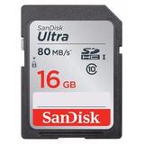 Cartão Sandisk Sdhc Ultra 16gb Sd 80mb/s Classe 10 Original
