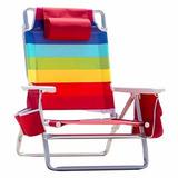 Cadeira Praia Nautica Dobrável Em Alumínio Frete Grátis