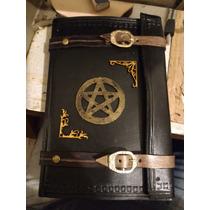 Bos ( Livro Das Sombras )capa Em Couro Wicca Grimorio