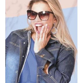 Jaqueta Jaquetinha Casaco Jeans Feminino Azul Frete Grátis