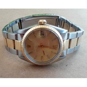 c59589b6d64 Rolex Automático Aço E Ouro 31mm. - Acrílico - Cambio Lento. R  8.000