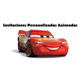 Tarjetas Invitacion Cumpleaños Digital Cars Animada Video