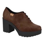 Sapato Oxford Moleca Nobuck Pinhao Ref. 5647.106