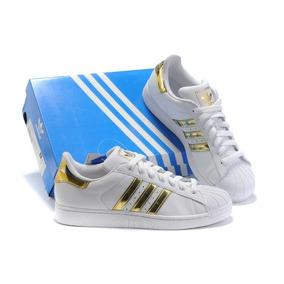 Adidas Superstar blanco con dorado ropa y accesorios en mercado
