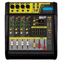 Mesa De Som Skp Amplificada Vz-40a Ii 4 Canais 400w Com Mp3