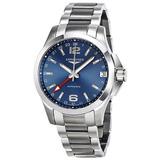 Reloj Longines Conquest Gmt Automatico Blue Dial L36874996