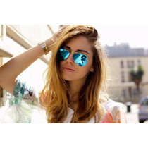Lentes Ray Ban Aviador Flash Lenses Y Gradient Unisex!!