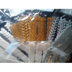 Encaje Hinovay Sugarveil Mini Oro Plata 9pzas Reposteria