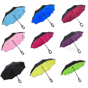 Paraguas Antiviento Inverso Impermeable Doble Capa Para Auto