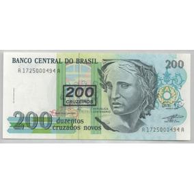 C 212b 200 Cruzeiros Fe Serie 1725 Com Carimbo Muito Rara