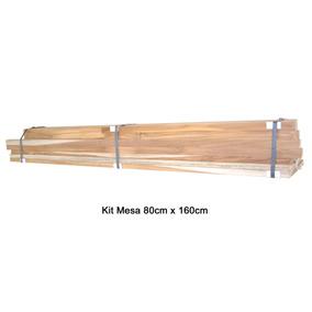 Kit Para Fabricar Uma Mesa De Madeira Teca 80cm X 160cm