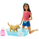 Muñeca Barbie Splish Splash Pup Y Cachorro