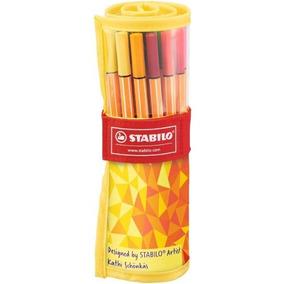 Caneta Stabilo Point 88 C/ 25 Cores Fine Edition Ponta 0.4