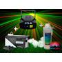 Combo Luces Fiesta Dj Maquina Humo 400 + Liquido + Laser