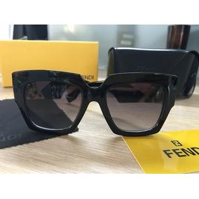 a7eeda9490242 Óculos Fendi Facets Ff0263s Preto Completo. R  279 90