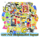 Simpson 100 Stickers Calcomanias De Pvc De A Prueba De Agua