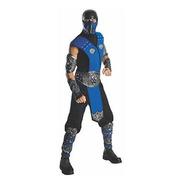 Disfraz De Mortal Kombat Sub Zero Para Adulto, Azul, Talla