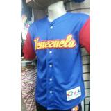 Camisa Beisbol Venezuela Niño. Dama Y Caballero