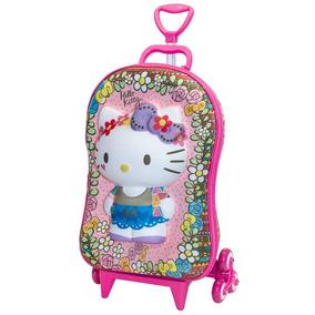 Mochila Com Rodinha+lancheira Hello Kitty Floral 2823 Diplom