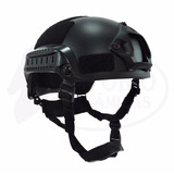 Capacete Tático Militar Paintball Airsoft Mich 2001 Preto