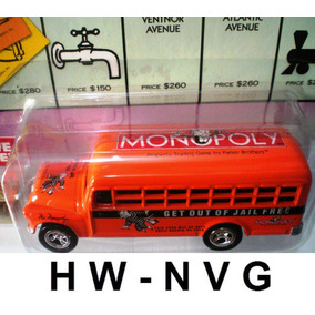 Johnny Lightning School Bus 56 Chevy Ônibus Monopoly