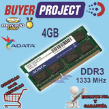 Memoria Ram Adata Ddr3 4gb Pc3-10600 1333 Mhz Sodimm Laptop