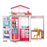 Barbie Casa Glam Fab Life Portatil Casita Amueblada + Muñeca