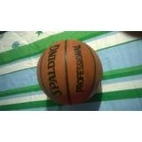 Balon Spalding De Baloncesto Cuero Original Poco Uso