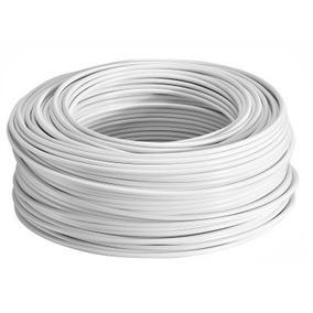 Rollo Cable Eléctrico Cal 14 Thw 100 Metros Blanco Regalalo