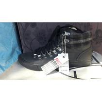 Zapato Americanino Cuero Color Negro N° 38.