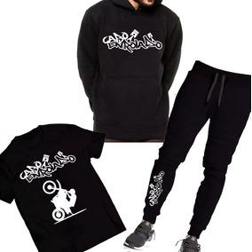 Kit Moletom Canguru + Calça + Camiseta Cabo Enrolado Motos ! 0720f7628f2ee