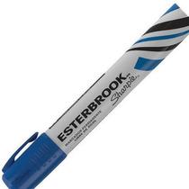Marcador Permanete Esterbrook Azul Caja Con 12 Piezas