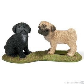 Schleich - Perros Y Mascotas 16383 Perritos Pug Bebe