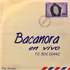 Cd Bacanora En Vivo Par Avion