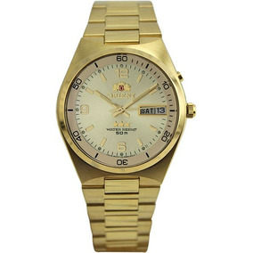 Relogio Orient Automatico Dourado Crystal 21 Jewels Original