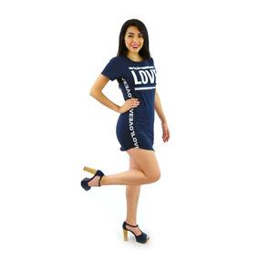 Vestidos Casuales Sexys Cortos Dama Juveniles Azul Lers06157
